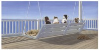 Tails on a Porch Swing Fine Art Print