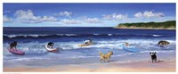 Hot Dogs Surf Fine Art Print