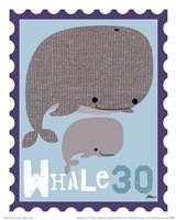 Animal Stamps - Whale Fine Art Print