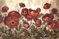 """Daydreaming Flowers Red by Silvia Vassileva - 36"""" x 24"""""""