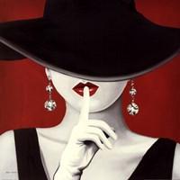 Haute Chapeau Rouge I Framed Print