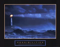 Possibilities-Lighthouse Framed Print