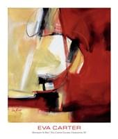 "Movement in Red by Eva Carter - 20"" x 23"""