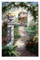 Flowered Archway Fine Art Print