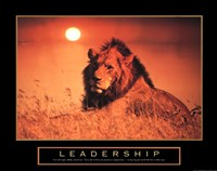 "Leadership-Lion by Linda Stubbs - 28"" x 22"""