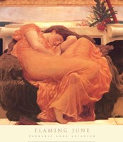 "Flaming June by Frederic Leighton - 27"" x 31"""