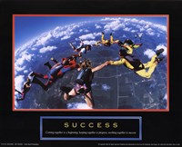"Success - Skydivers by Linda Stubbs - 10"" x 8"""