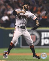 Sergio Romo Celebrates Winning Game 4 of the 2012 World Series Fine Art Print