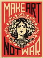 Make Art Not War Framed Print