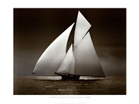Iverna Yacht at Full Sail, 1895 Framed Print
