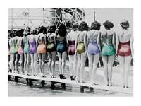 Coney Island Line Up, 1935 Framed Print