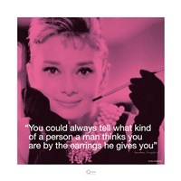 Audrey Hepburn- Earrings Framed Print