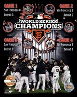 San Francisco Giants 2012 World Series Champions PF Gold Composite - Limited Edition Framed Print