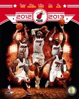 Miami Heat 2012-13 Team Composite Fine Art Print