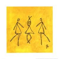 Joy - Yellow Dancers Framed Print