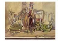 Olive Oil Bottles Fine Art Print