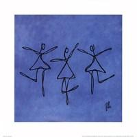 Peace - Blue Dancers Framed Print