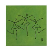 Love - Green Dancers Framed Print