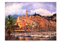 Marina at Monaco Fine Art Print