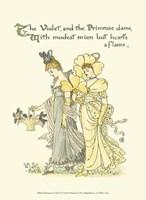 Shakespeare's Garden XI (Violet & Primrose) Fine Art Print