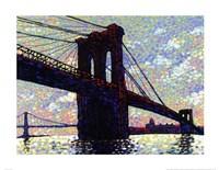 """Brooklyn Bridge by Neil Waldman - 28"""" x 22"""""""