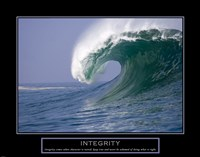 Integrity - Wave Framed Print