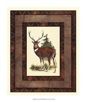 """Rustic Deer by Vision Studio - 13"""" x 15"""""""