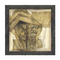 "Antique Capitals I by Jennifer Goldberger - 16"" x 16"""