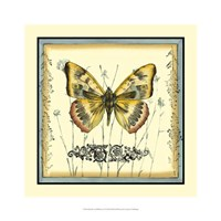 """Butterfly and Wildflowers IV by Jennifer Goldberger - 16"""" x 16"""""""