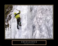 Excellence-Snow Climber Fine Art Print
