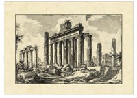 "Vintage Roman Ruins I by Giovanni Battista Piranesi - 23"" x 16"""
