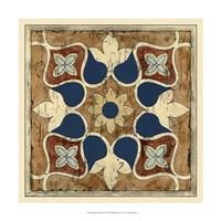 "Vintage Woodblock II by Chariklia Zarris - 17"" x 17"" - $27.99"