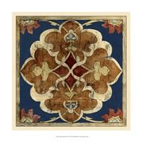 "Vintage Woodblock III by Chariklia Zarris - 17"" x 17"" - $27.99"