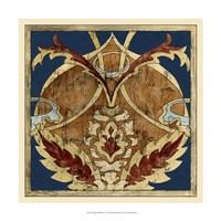"Vintage Woodblock V by Chariklia Zarris - 17"" x 17"" - $27.99"