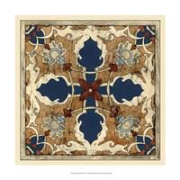 "Vintage Woodblock VI by Chariklia Zarris - 17"" x 17"" - $27.99"