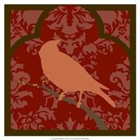 """Moroccan Songbird II by June Erica Vess - 17"""" x 17"""""""