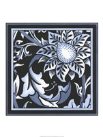 "Blue & White Floral Motif II by Vision Studio - 18"" x 24"""