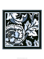 "Blue & White Floral Motif III by Vision Studio - 18"" x 18"""