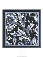 "Blue & White Floral Motif IV by Vision Studio - 18"" x 24"""