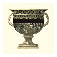 Crackled Large Giardini Urn II Fine Art Print