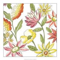 """Bouquet Garden I by Chariklia Zarris - 18"""" x 18"""""""