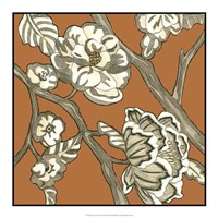 "Butterscotch Chintz I by Chariklia Zarris - 18"" x 18"""