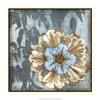 """Rosette with Leaves I by Jennifer Goldberger - 18"""" x 18"""" - $21.99"""
