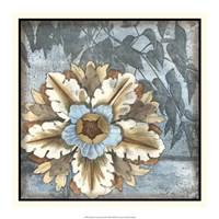 "Rosette with Leaves II by Jennifer Goldberger - 18"" x 18"" - $21.99"