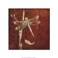 "Wings & Damask VI by Jennifer Goldberger - 21"" x 21"""