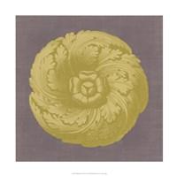 "Gilded Rosette II by Vision Studio - 18"" x 18"", FulcrumGallery.com brand"