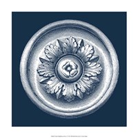 Classic Medallion on Navy I Fine Art Print