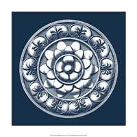 """Classic Medallion on Navy II by Vision Studio - 18"""" x 18"""" - $18.99"""