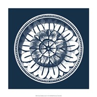 """Classic Medallion on Navy IV by Vision Studio - 18"""" x 18"""" - $18.99"""