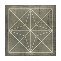 "Geometric Blueprint I by Vision Studio - 18"" x 18"""